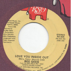 BEE GEES disco 45 giri LOVE YOU INSIDE OUT + I'M SATISFIED - Made in USA