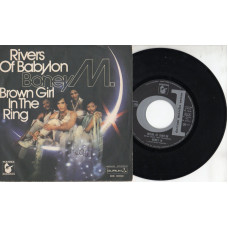 BONEY M disco 45 giri RIVERS OF BABYLON + BROWN GIRL IN THE RING - 1978 - Made in Italy