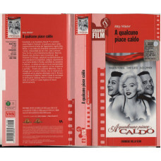 Marilyn Monroe Tony Curtis Jack Lemmon Billy Wilder VHS A qualcuno pace caldo