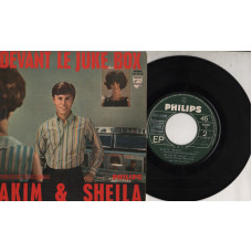 Akim & Sheila disco EP 45 giri 1965 Devant le Juke Box  Made in France
