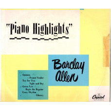 Barclay Allen  disco 25 cm 33 giri  Piano Highlits