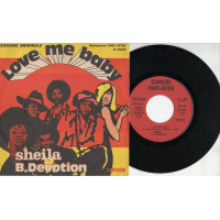 Sheila B.Devotion  disco  45 giri 1977 Love me baby Stampa italiana