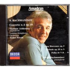 SERGEI RACHMANINOV e LONDON SYMPHONY ORCHESTRA diretta da ANDRé PREVIN CD CONCERTO N. 2 OP. 18