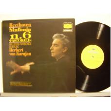 HERBERT VON KARAJAN con ORCHESTRA FILARMONICA DI BERLINO disco LP 33 giri BEETHOVEN SINFONIA N. 6 IN FA MAGGIORE OP. 68 PASTORALE
