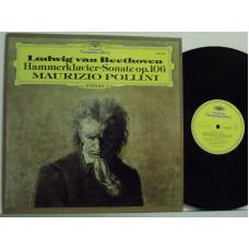 disco LP 33 giri LUDWIG VAN BEETHOVEN - Hammerklavier-sonate op. 106 - Maurizio Pollini - MADE IN GERMANY
