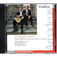 CARULLI e MALERBI CD LA CHITARRA NELL'800 Registrazione inedita EU Amadeus
