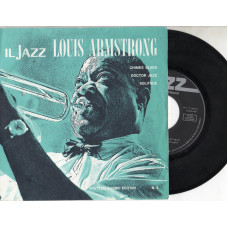 LOUIS ARMSTRONG disco EP 45 giri CHIMES BLUES + DOCTOR JAZZ + SOLITUDE - Serie JAZZ