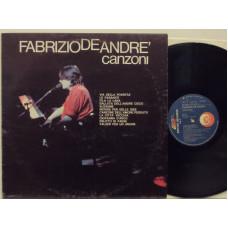FABRIZIO DE ANDRE disco LP 33 giri CANZONI - Stampa italiana - COPERTINA DIVERSA Orizzonte senza logo