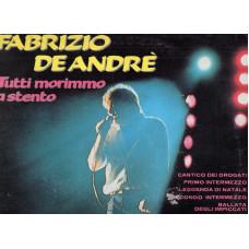 FABRIZIO DE ANDRE disco LP 33 giri TUTTI MORIMMO A STENTO - Serie Orizzonte
